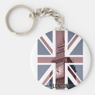 Big Ben, London Basic Round Button Keychain