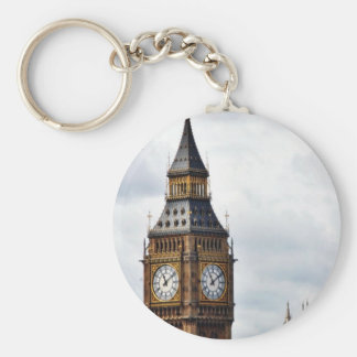 Big Ben London Clock Towers And Westminster Abbey Basic Round Button Keychain