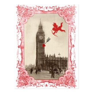 Big Ben London Cupid Valentine Postcard