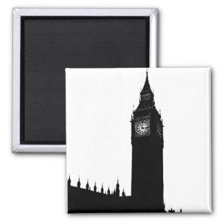 Big Ben London England silhouette graphic Magnet
