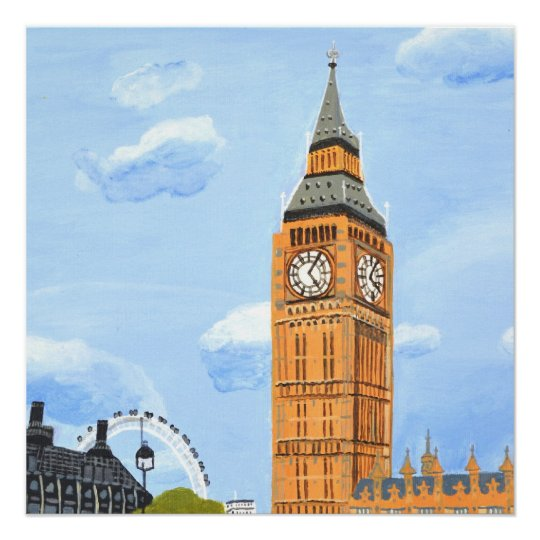Big Ben London Glossy Poster