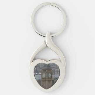 Big Ben London Heart Keychain