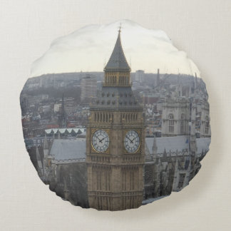 Big Ben London Round Pillow