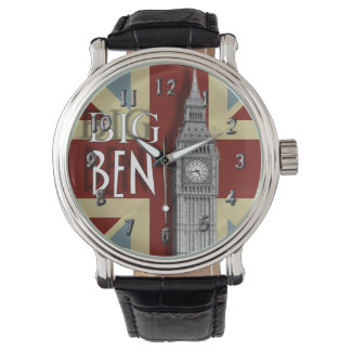 Big Ben London Union Jack Theme Watch