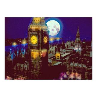 Big Ben, London with moon Card