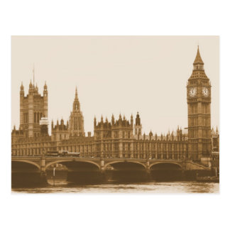 Big Ben - Parliament - Westminster Bridge Postcard