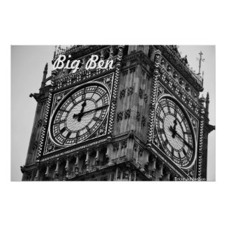 Big Ben - post offices Poster