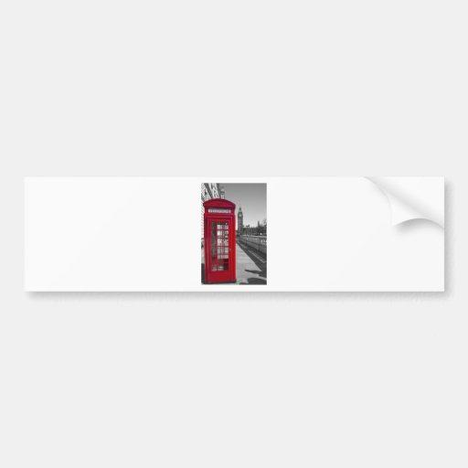 Big Ben Red Telephone box Bumper Sticker