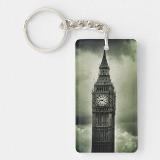 Big Ben Single-Sided Rectangular Acrylic Keychain