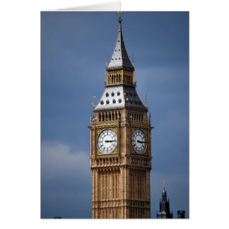 Big Ben The Clock Tower Palace of Westminster Card