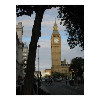 Big Ben Through a Tree Poster