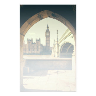 Big Ben Under The Arch, London UK. Customized Stationery