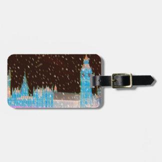 Big Ben Westminster Abbey London Red Skies Bag Tag