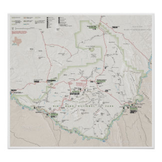 Big Bend (Texas) map poster