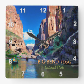 Big Bend Texas National Park Mariscal Canyon Square Wall Clock