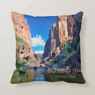 Big Bend Texas National Park Mariscal Canyon Throw Pillow