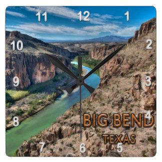 Big Bend Texas National Park Rio Grande Square Wall Clock