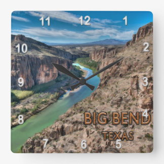 Big Bend Texas National Park Rio Grande Wallclock