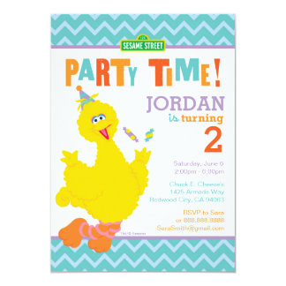 "Big Bird Birthday 5"" X 7"" Invitation Card"