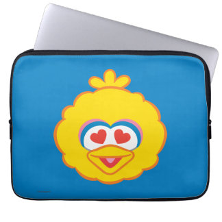 Big Bird Smiling Face with Heart-Shaped Eyes Laptop Sleeves