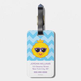 Big Bird Smiling Face with Sunglasses Bag Tag