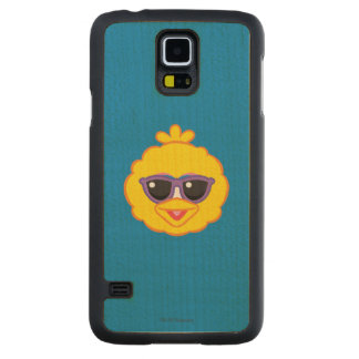 Big Bird Smiling Face with Sunglasses Maple Galaxy S5 Case