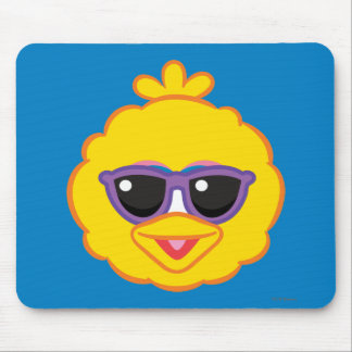 Big Bird Smiling Face with Sunglasses Mouse Pad