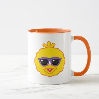 Big Bird Smiling Face with Sunglasses Mug
