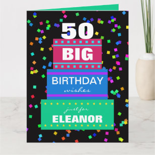 Big cards greeting cards more zazzle ca big birthday greeting cards any age m4hsunfo