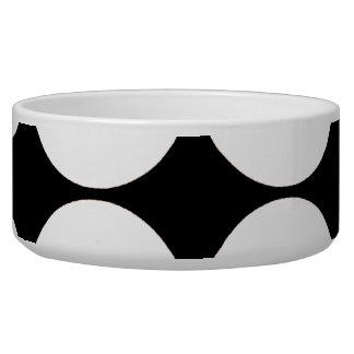 Big Black and White Polka Dots Circles Pattern Pet Food Bowls