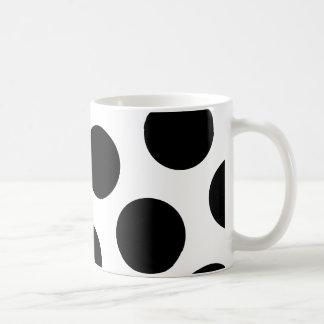 Big Black Diagonal Dots Coffee Mug