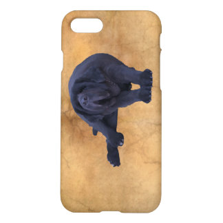 Big, Black Newfoundland Dog Art iPhone 7 Case
