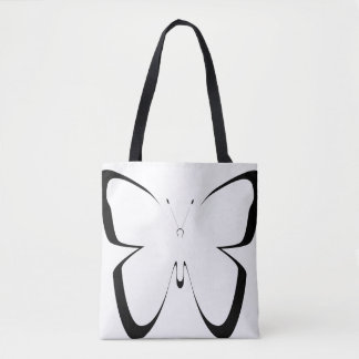 big black-white butterfly bag