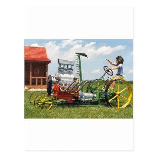 Big Block Lawn Mower Postcard