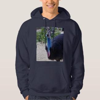 Big Blue Australian Cassowary Bird, Hoodie