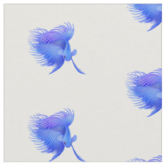 Big Blue Betta Fighting Fish Fabric