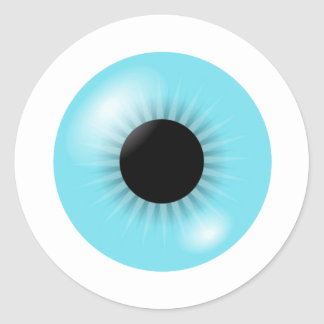 Big blue eyeball sticker sheet