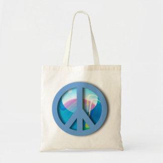 Big Blue Peace Marble Budget Tote Bag