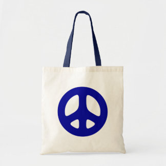Big Blue Peace Sign Beach Tote