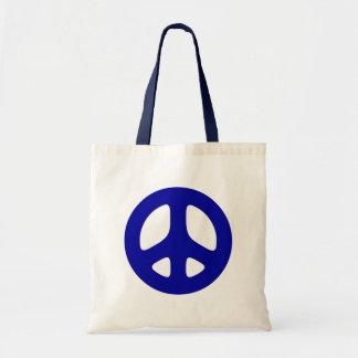 Big Blue Peace Sign Beach Tote Tote Bags
