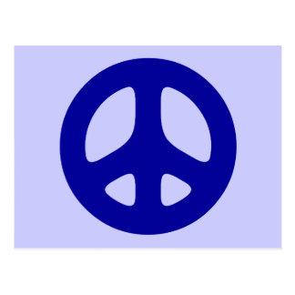 Big Blue Peace Sign Postcard