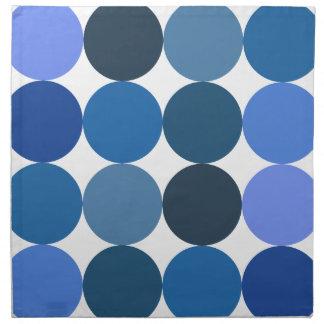 Big Blue Polka Dots Napkin