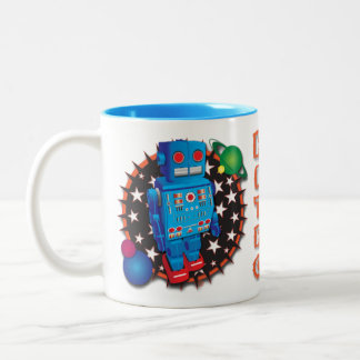 Big Blue Robot Mug Design