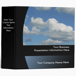 Big Blue Sky Custom Business Presentation Binder