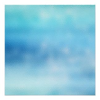 Big Blue Sky Ocean Abstract Contemporary Ombre Poster