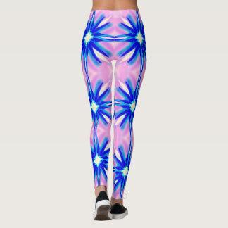 big blue stars pink leggings