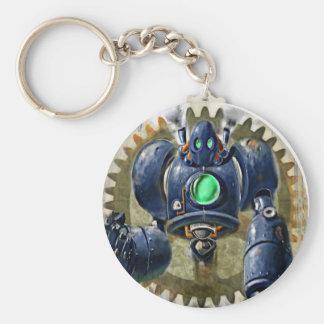 Big Blue  Steampunk  Robo Keychain