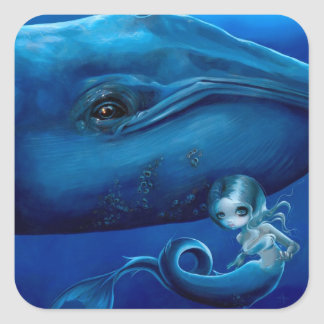 """Big Blue Whale"" Sticker"