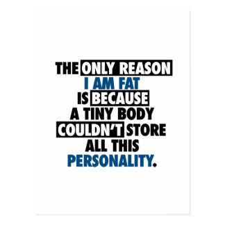 Big Body Awesome Personality Postcard