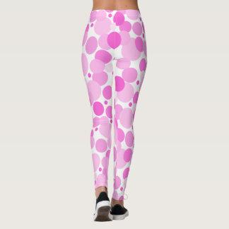 Big, Bold, Variegated Pink Polka Dots ©AH2015 Leggings